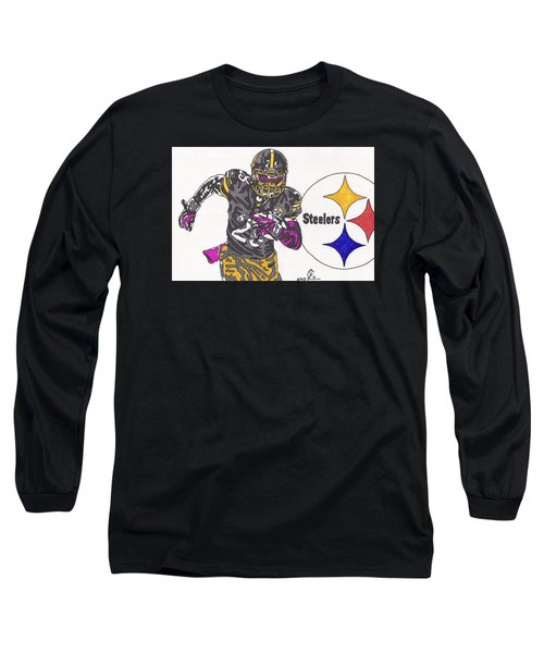 Le'veon Bell 2 Long Sleeve T-Shirt by Jeremiah Colley