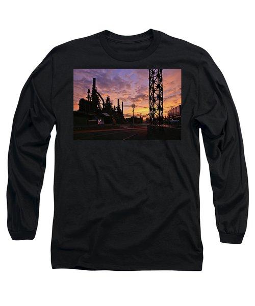Long Sleeve T-Shirt featuring the photograph Levitt Pavilion by DJ Florek