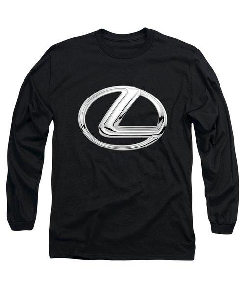 Lexus - 3d Badge On Black Long Sleeve T-Shirt