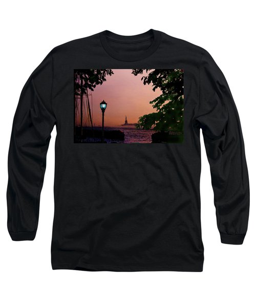Liberty Fading Seascape Long Sleeve T-Shirt by Steve Karol