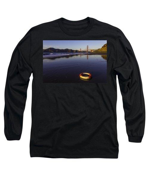 Life Ring And Golden Gate Bridge Long Sleeve T-Shirt