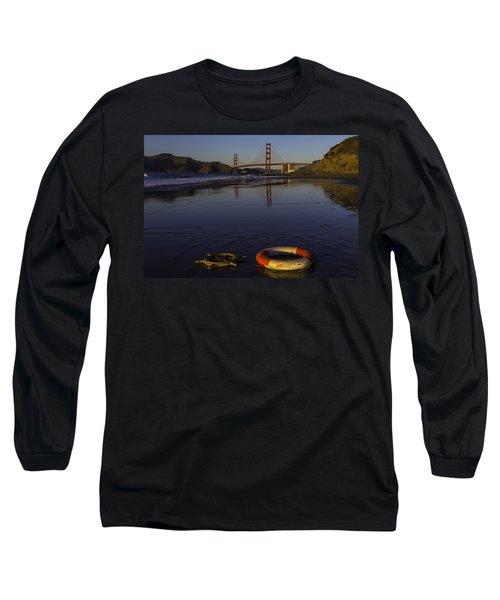 Life Ring And Ships Wheel Long Sleeve T-Shirt