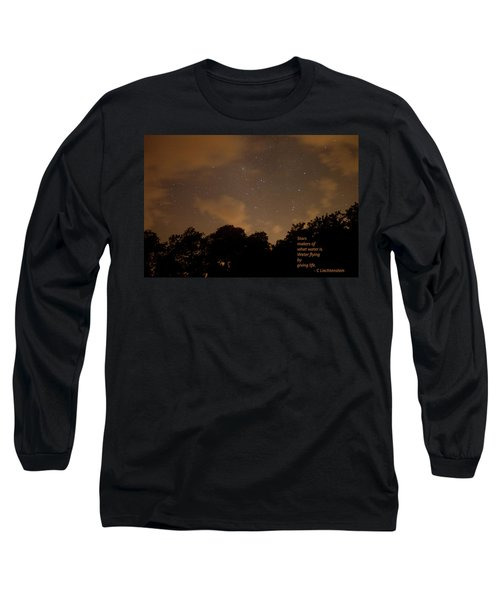 Life, Water And Stars Long Sleeve T-Shirt