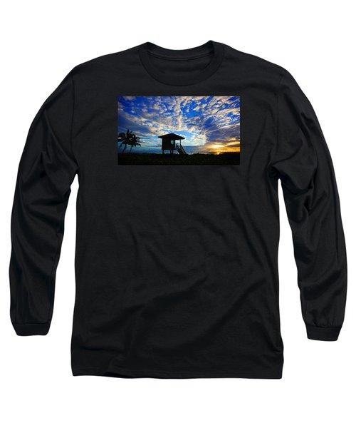 Lifeguard Station Sunrise Long Sleeve T-Shirt