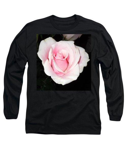 Light Pink Rose Long Sleeve T-Shirt by Karen J Shine