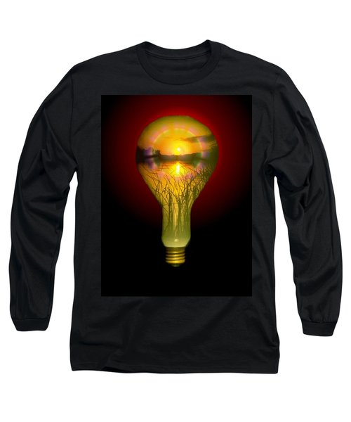 Lighthearted Sunset Long Sleeve T-Shirt by Tim Allen