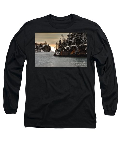 Lighthouse And Island At Dawn Long Sleeve T-Shirt
