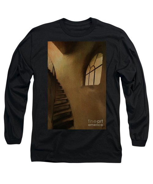 Long Sleeve T-Shirt featuring the photograph Lighthouse Stairs by Jim  Hatch