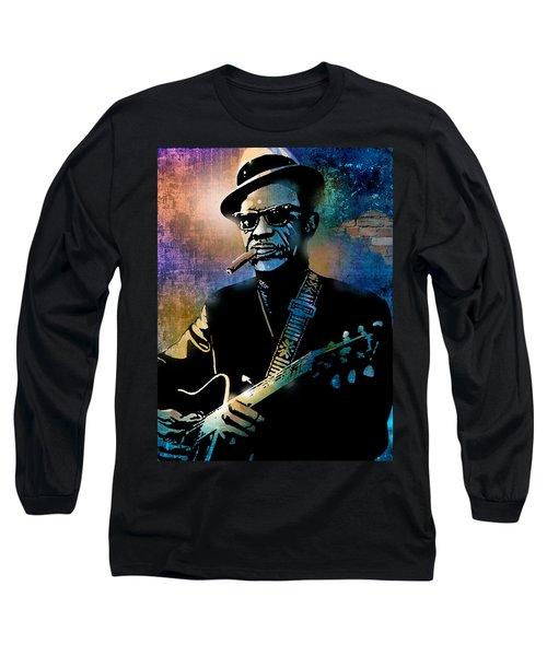 Lightnin Hopkins Long Sleeve T-Shirt