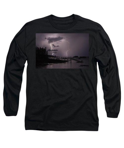 Lightning Over Boothbay Harbor Long Sleeve T-Shirt