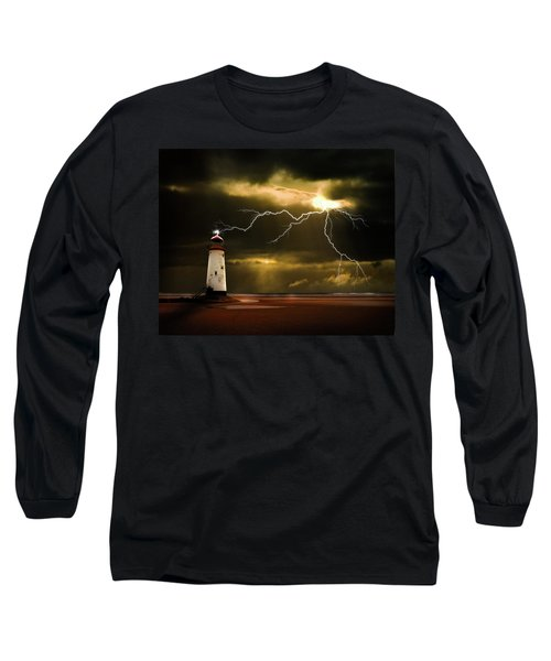 Lightning Storm Long Sleeve T-Shirt by Meirion Matthias