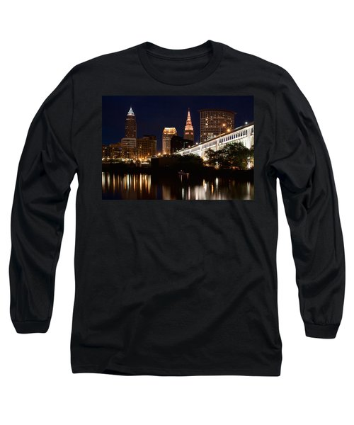 Lights In Cleveland Ohio Long Sleeve T-Shirt