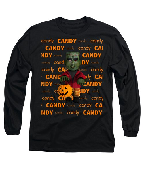 Long Sleeve T-Shirt featuring the digital art Lil Monster Halloween by Methune Hively
