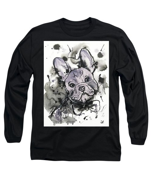 Lilac Frenchie Long Sleeve T-Shirt