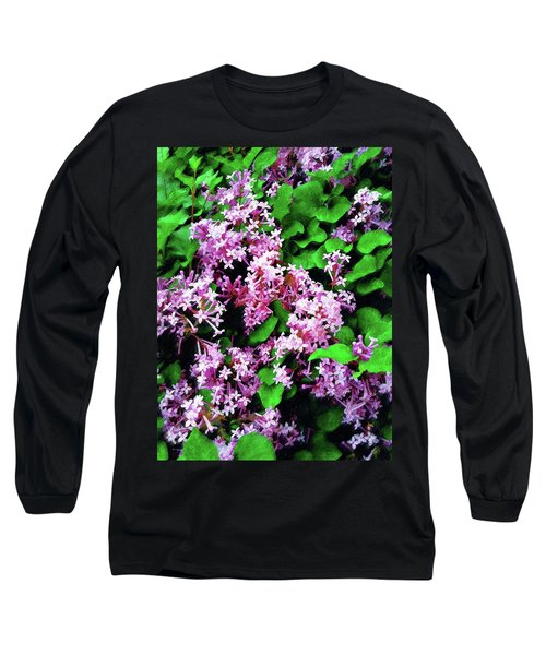 Long Sleeve T-Shirt featuring the painting Lilacs In May by Sandy MacGowan
