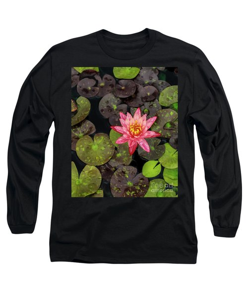 Lilly Pad, Red Lilly Long Sleeve T-Shirt