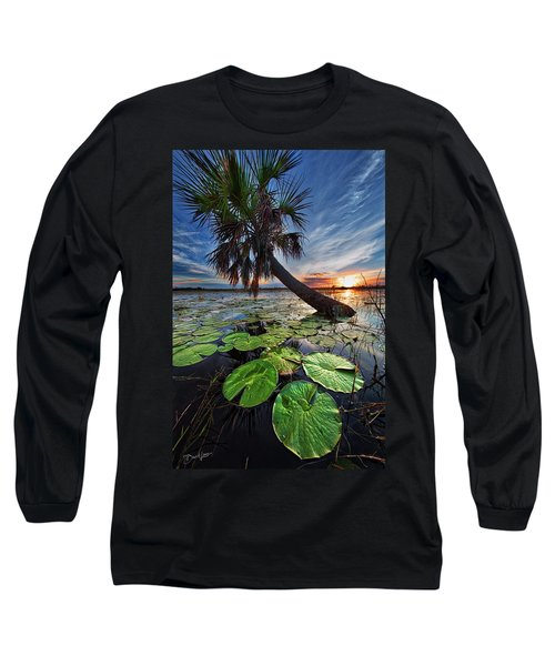 Lily Pads And Sunset Long Sleeve T-Shirt