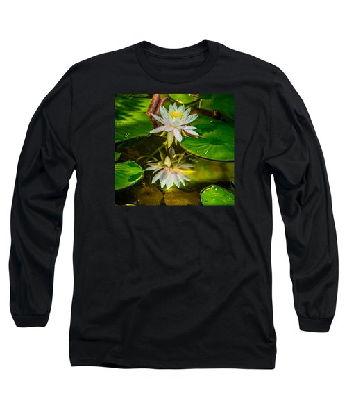 Lily Reflection Long Sleeve T-Shirt by Jerry Cahill