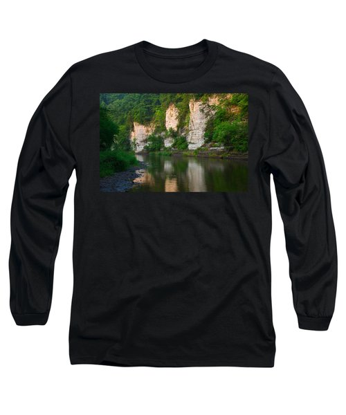 Limestone Bluffs Along Upper Iowa Long Sleeve T-Shirt