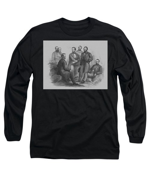 Lincoln And His Generals Long Sleeve T-Shirt