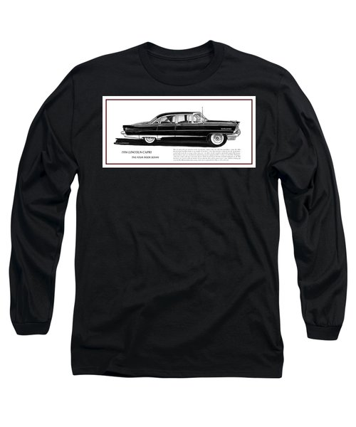Lincoln Capri 1956 Long Sleeve T-Shirt by Jack Pumphrey