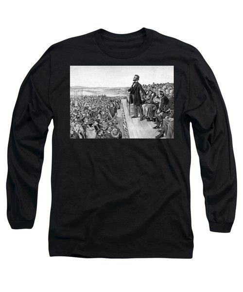 Lincoln Delivering The Gettysburg Address Long Sleeve T-Shirt