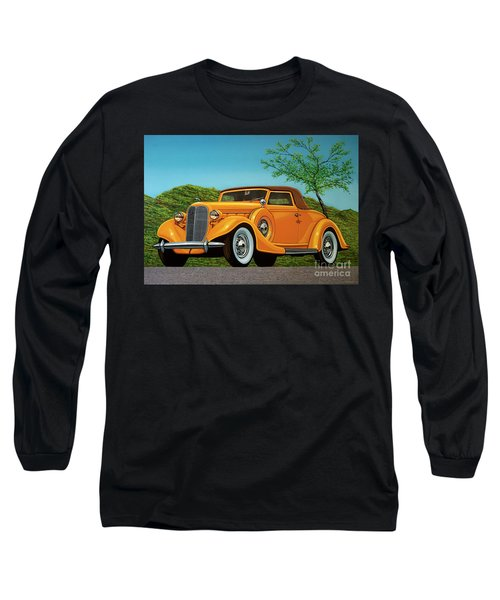 Lincoln K Convertible 1935 Painting Long Sleeve T-Shirt