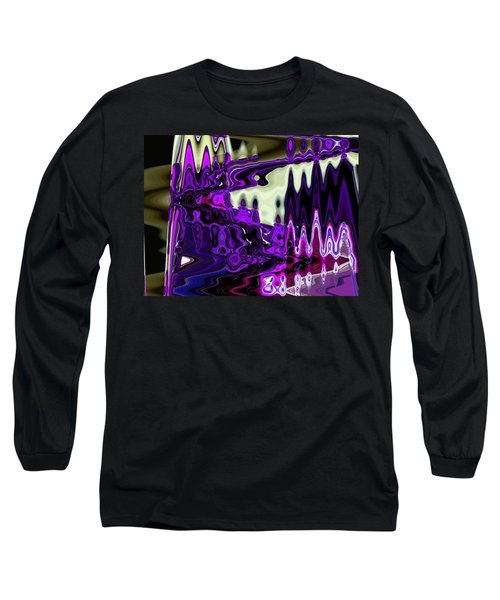 Lining Up At Heavens Gate Long Sleeve T-Shirt by Lenore Senior