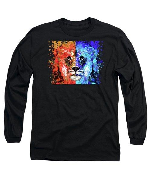 Lion Art - Majesty - Sharon Cummings Long Sleeve T-Shirt by Sharon Cummings
