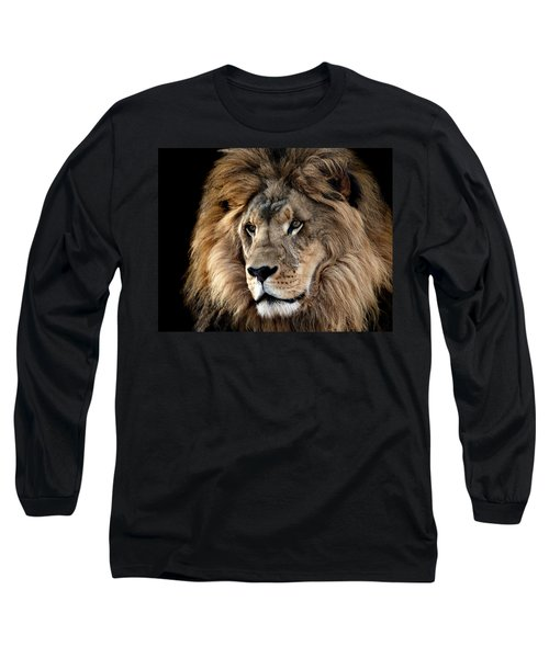 Long Sleeve T-Shirt featuring the photograph Lion King Of The Jungle 2 by James Sage