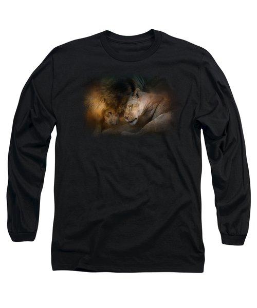 Lion Love Long Sleeve T-Shirt by Jai Johnson