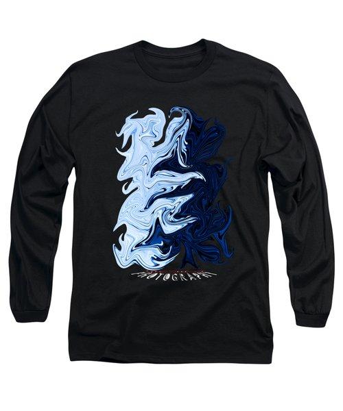 Liquid Blue Transparency Long Sleeve T-Shirt