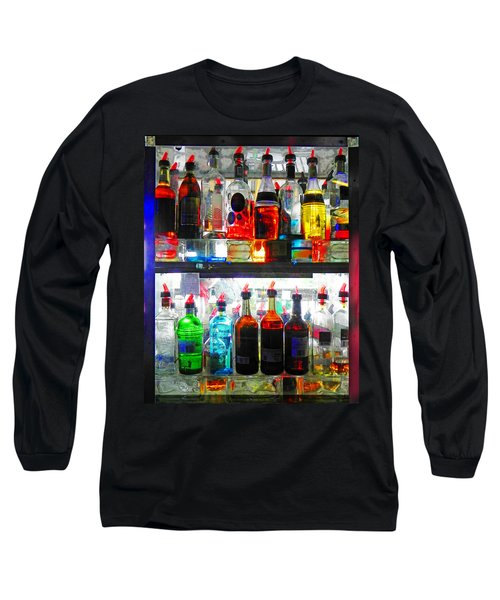 Liquor Cabinet Long Sleeve T-Shirt by Francesa Miller