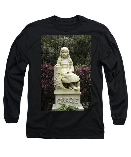 Little Gracie Bonaventure Cemetery Long Sleeve T-Shirt by Jeannette Hunt