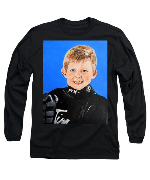 Long Sleeve T-Shirt featuring the painting Little Mister G by Betty-Anne McDonald