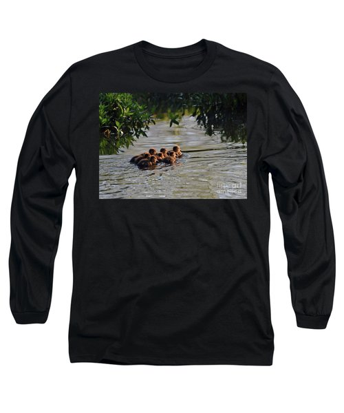 Little Quackers Looking For Mama Long Sleeve T-Shirt by Debby Pueschel
