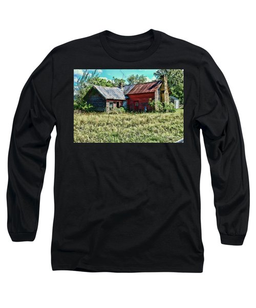 Little Red Farmhouse Long Sleeve T-Shirt by Paul Ward