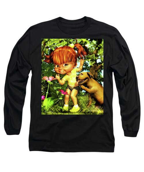 Little Redhead And Her Dog Long Sleeve T-Shirt