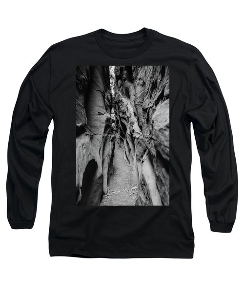 Little Wild Horse Canyon Bw Long Sleeve T-Shirt