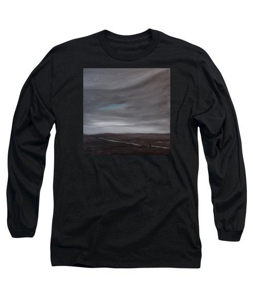 Little Woman In Large Landscape Long Sleeve T-Shirt