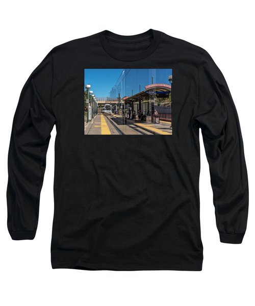 Littleton Rtd Light Rail Station Long Sleeve T-Shirt by Stephen  Johnson