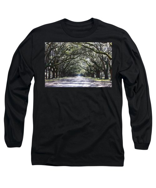 Live Oak Lane In Savannah Long Sleeve T-Shirt