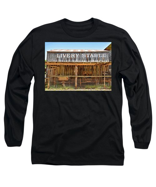 Livery Stable Long Sleeve T-Shirt by Ray Shrewsberry