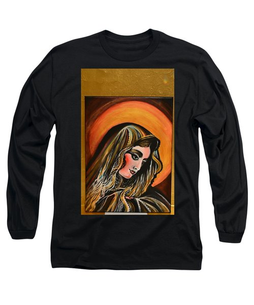 lLady of sorrows Long Sleeve T-Shirt by Sandro Ramani