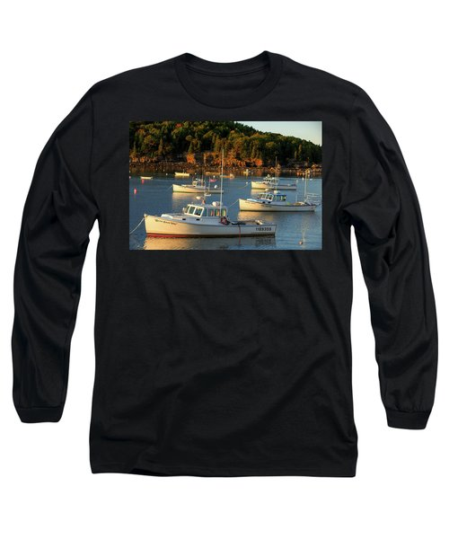 Long Sleeve T-Shirt featuring the photograph Lobster Boats At Bar Harbor Me  by Emmanuel Panagiotakis