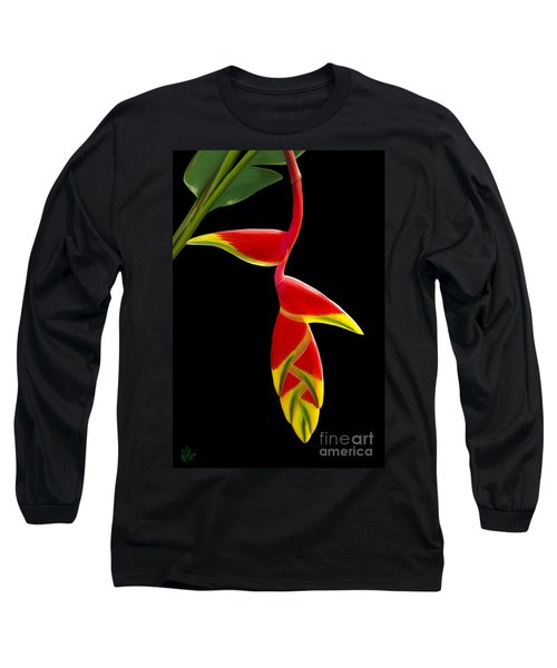 Long Sleeve T-Shirt featuring the painting Lobster Claw by Rand Herron