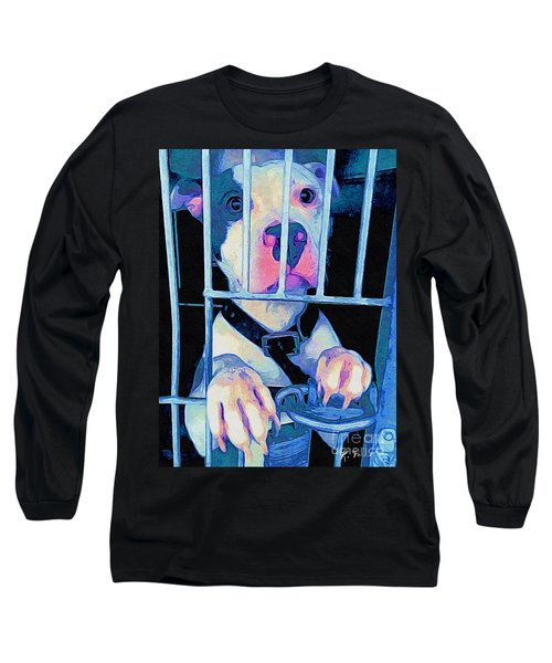Long Sleeve T-Shirt featuring the digital art Locked Up by Kathy Tarochione