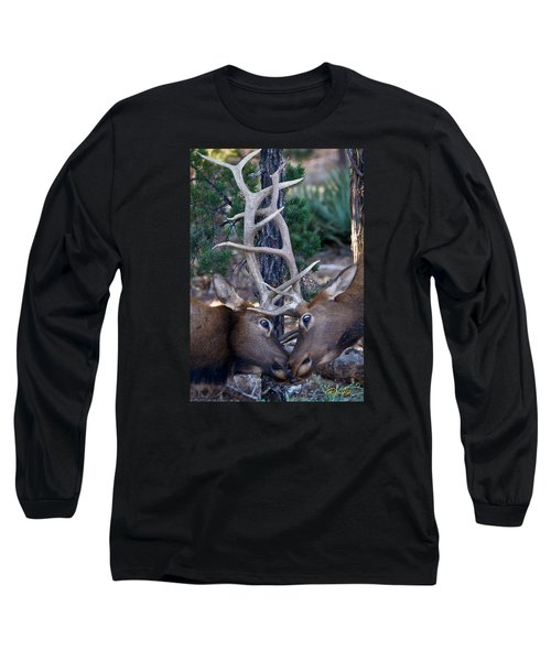 Locking Horns - Well Antlers Long Sleeve T-Shirt