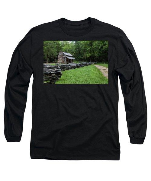 Log Cabin Long Sleeve T-Shirt by David Cote