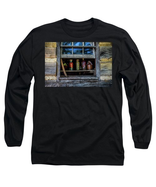 Long Sleeve T-Shirt featuring the photograph Log Cabin Window by Paul Freidlund
